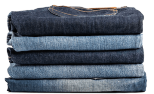 Rectangular fold for pants and jeans